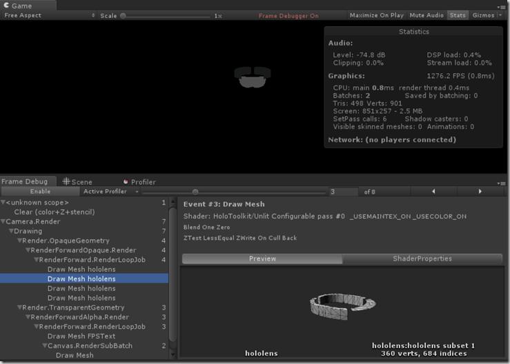 unity frame debugger