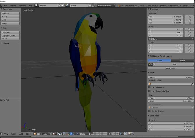 parrotinblender